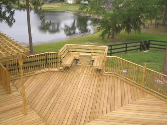 Lake Mary Decks for Garden Structures and Landscape Design